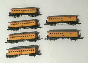 Bachmann N gauge Union Pacific Old Timers Coaches x6