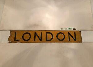 "London Bus Destination Blind 33"" - 25th Oct 1965 - London"