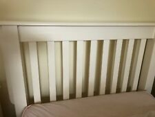 White Single Bed Frame Solid Timber