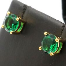 Gorgeous Green Round Emerald Stud Earring Women Nickel Free Jewelry Gift