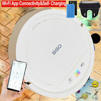 Wi-Fi App Alexa Robot Vacuum Cleaner, Strong Suction, Self Charge For Carpet Pet