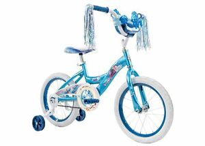 Huffy Girls Bike Disney Frozen II 16inch Blue Adjustable single-speed Safe Bike