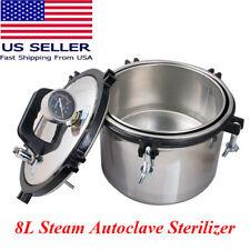 8l Steam Autoclave Sterilizer Dental Medical Lab Equipment Stainless Portable Ce