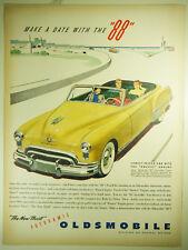 """Vintage 1949 OLDSMOBILE Lg Magazine Print Ad: Automobile  FUTURMATIC ROCKET """"88"""""""