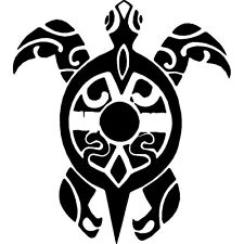 TURTLE TRIBAL MARKS CAR DECAL STICKER