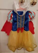 Disney Baby Girls Classic SNOW WHITE Dress w/ Attached capelet 12-24 Months