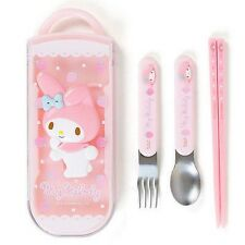 Sanrio My Melody Deluxe Utensil/cutlery Set in Case