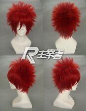 Hitman Kozato Enma Akaito Lavi Sasori NARUTO SABAKUNO GAARA Cosplay Red Wig +CAP