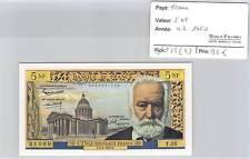 BILLET 5 Nouveaux Francs VICTOR HUGO 4-2-1960