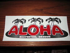 "ALOHA Camp Vintage Travel Trailer 12"" decal meduim size"