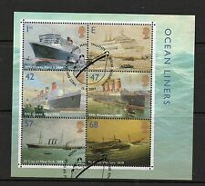 GB 2004 Ocean Liners Minisheet fine used set stamps