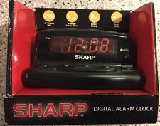 SHARP LED ELECTRIC DIGITAL ALARM CLOCK SNOOZE BATTERY BACKUP FREE PRIORITY SHIP