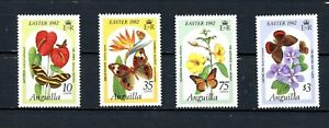 Anguilla MNH #480-83  Easter Butterflies on Flowers 1982 A010