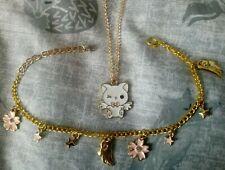Kawaii Necklace & Charm Bracelet, Cute, Lolita, Cat, Sakura, Star, Wings, Fairy