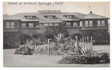 1920 Postcard Hotel at Fetters Hot Springs California