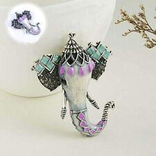Animal Enamel Wedding Jewelry Elephant Vintage Brooch Gifts Costume Pin Fashion