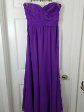 Ralph Lauren Womens 6 Purple Chiffon Prom Evening Holiday Dress Party Gown