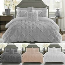 Top Quality Pintuck Duvet Cover Set Rich Cotton Bedding Sets Double King Size