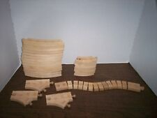 25 Pieces Thomas The Train Wooden Track Lot of Track Pieces WACKY TRACK