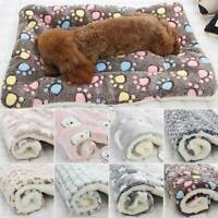 Haustier Hund Haustier Plüsch Decke Welpen Cat Decke Schlafen Weich Bett Mat CC