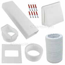 """White Vent Venting Kit For Bosch Tumble Dryer External Wall Outlet 4"""" 100mm"""