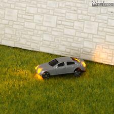 8 Stück N Maßstab 1:160 Beleuchtete Autos mit blinkenden gelben Lichtern