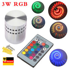 AGM RGB LED 3W Wandlampe Wandleuchte Effektlicht Deckenlampe mit Fernbedienung