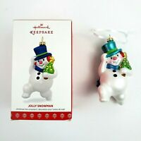 Hallmark Keepsake Jolly Snowman Christmas Tree Ornament 2017