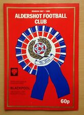 Aldershot Blackpool 10/10/87 (29/03/88) The REC Ground football programme (GR1)