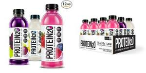 Protein2o Low Calorie Whey Protein Drink, Variety Pack, 16.9 oz (Pack of 12)