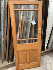 RECLAIMED - PITCH PINE - ORNATE & GLASS - FRONT / PORCH DOOR (Mid Century)