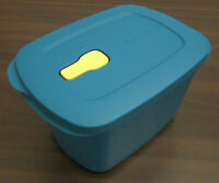 Tupperware MicroTup Crystal Wave Mikrowellengeschirr 2,3 l rechteckig Blau Neu