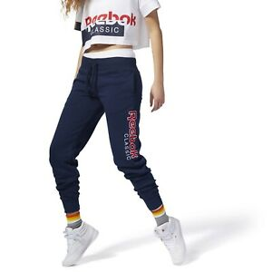 Reebok Classics Graphic Pants Women's Blue Red White Casual Active Wear Jogger