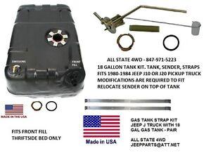 JEEP 1980-1987 Jeep® J10 & J20 Truck 18 gallon fuel tank with sender & strap kit