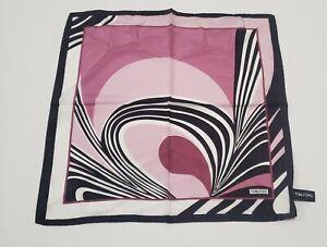 TOM FORD NWT purple And Black Print Silk Pocket Square $180