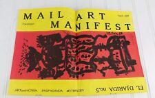 Issue MANIFEST Mail Art Punk Poetry Project April 1987 El Djarida Catalogue