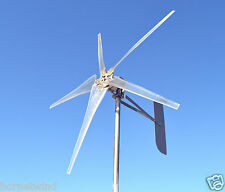 "KT Ghost 1000W 74"" Steel 5 Blade Wind turbine LOW WIND 24 VAC 3-phase 6.3 kWh"