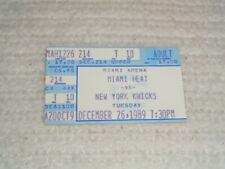 1989 Miami Heat vs. New York Knicks Rare Original 12/26/89 Ticket Stub