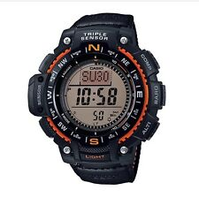 Casio Watch * SGW1000B-4A Outgear Triple Sensor Black Canvas for Men COD PayPal