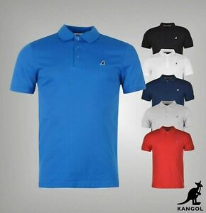 Mens Kangol 3 Button Brit Fit Short Sleeve Polo Shirt Top Sizes from S to XXXL
