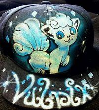 Pokemon Go Custom Airbrush Snapback Hat! Alola Vulpix trucker Pokémon pikachu