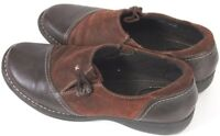 Clarks Artisan Women's Casual Loafers Shoes Size 9.5 Leather Brown EUC