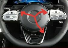 Carbon Fibre Look Flat bottomed Steering Wheel Trim for Mercedes A-Class +others