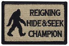 Reigning Hide and Seek Champion Bigfoot Hook Patch  (mtu)