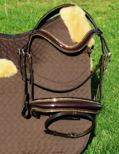 FSS Gold Stellar Crystal Piping Edges Bling FREEFORM Comfort Cut Away Bridle WOW
