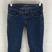 Old Navy Ultra Blue Flare womens size 1 x 31.5 stretch med wash low rise jeans