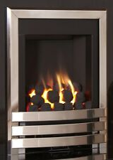 CHROME POLISHED CHIMNEY COAL FIREPLACE INSET INSERT MODERN HOLE IN WALL GAS FIRE