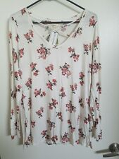 SIZE EXTRA LARGE XL SHIRT TOP NWT NEW NO COMMENT FLORAL LONG SLEEVES