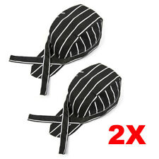 2X Mens Womens Chef Hat Catering Baker Sushi Japanese Kitchen Cook Caps Stripes