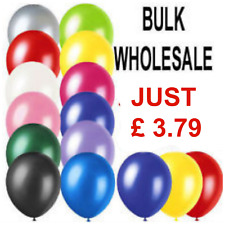 100 LARGE PLAIN BALLOONS BALLONS helium balloons Quality Birthday Party Decorati